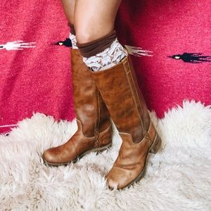 Vintage Dingo leather tall boots